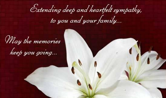 30 condolences messages in