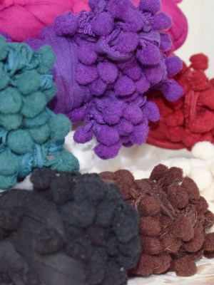 Cotton Pom Pom Scarves by Q&S Islamic Store