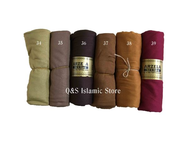 Jersey scarves by Q&S Islamic Store - The Arzela range