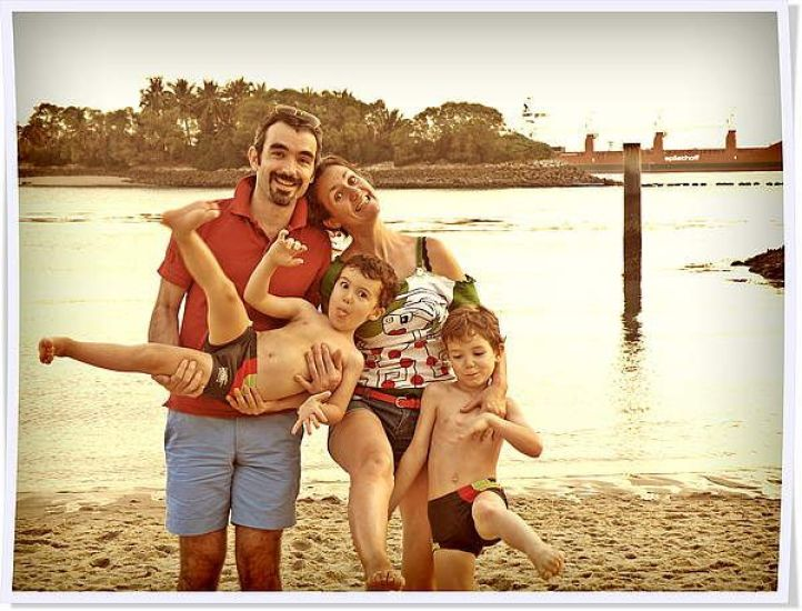 Carine and her lovely family