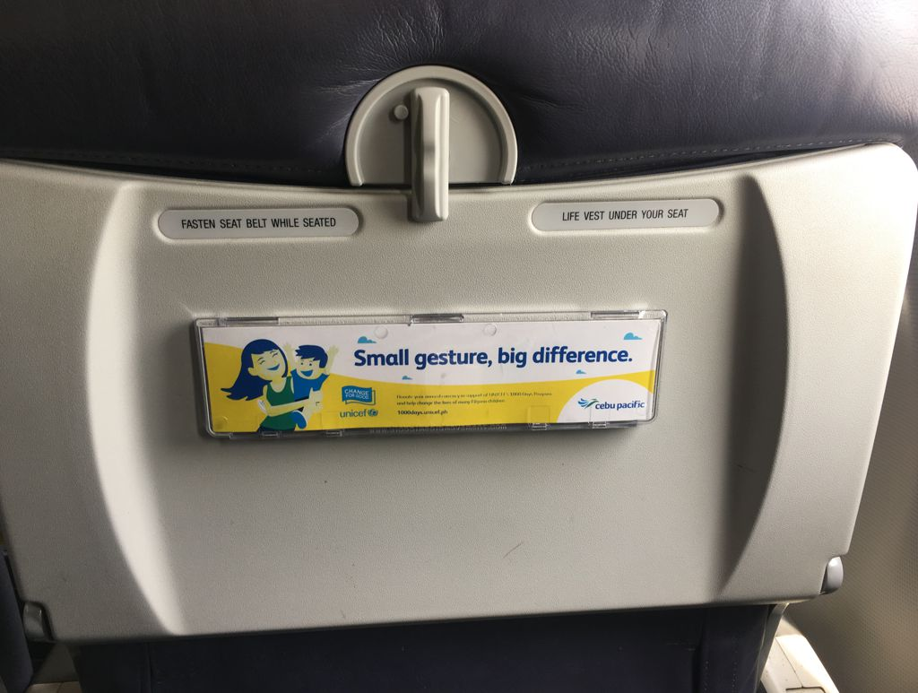 Cebu Pacific Front Seat Pocket
