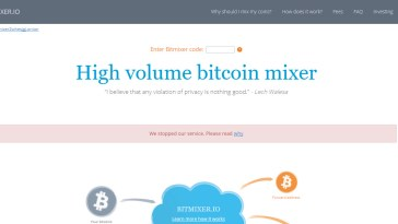 BitMixer.io Shuts Down Without Much Explanation