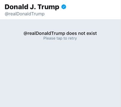 twitted deletes trump account