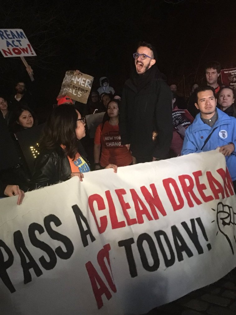 George Soros Pro-Immigration Group Protests at Senator Chuck Schumer