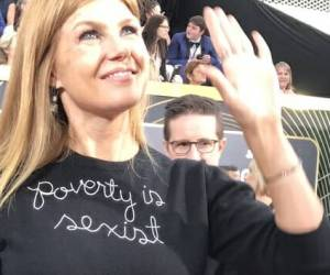 Hollywood Actress Wears $380 'Poverty Is Sexist' Shirt at Golden Globes