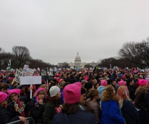 trump trolls women protests