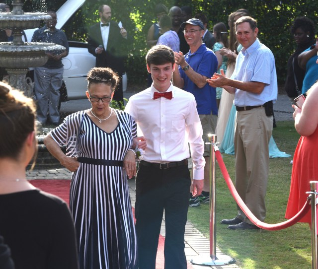 Joyce Funderburk Struts A Little With Escort Corey Grant From Sumter High School When Joy