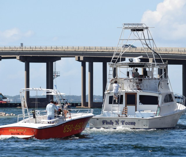 Commercial Boats Leave The Destin Harbor In Destin Florida On Monday Residents Of