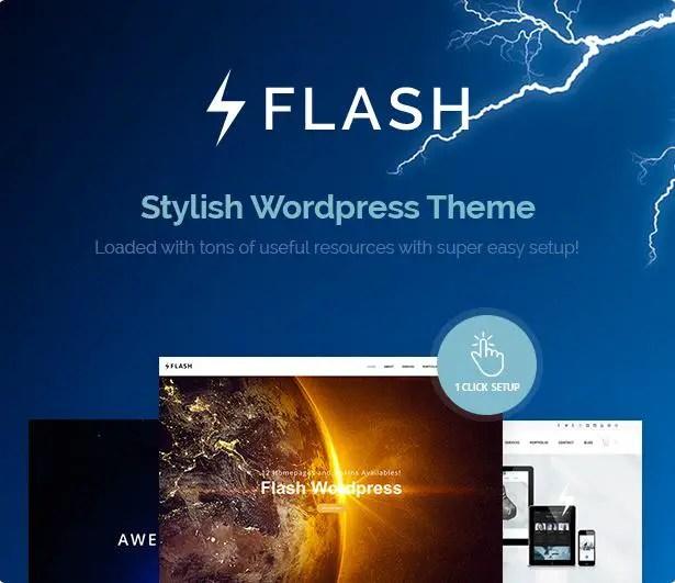 Flash responsive wordpress theme