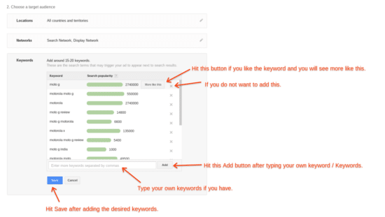how to find keywords for adwords