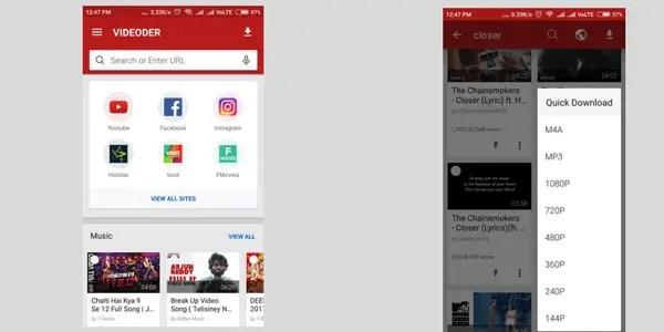 Videoder video downloader apps