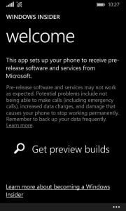 Windows Phone 10 Insider Preview Sign Up