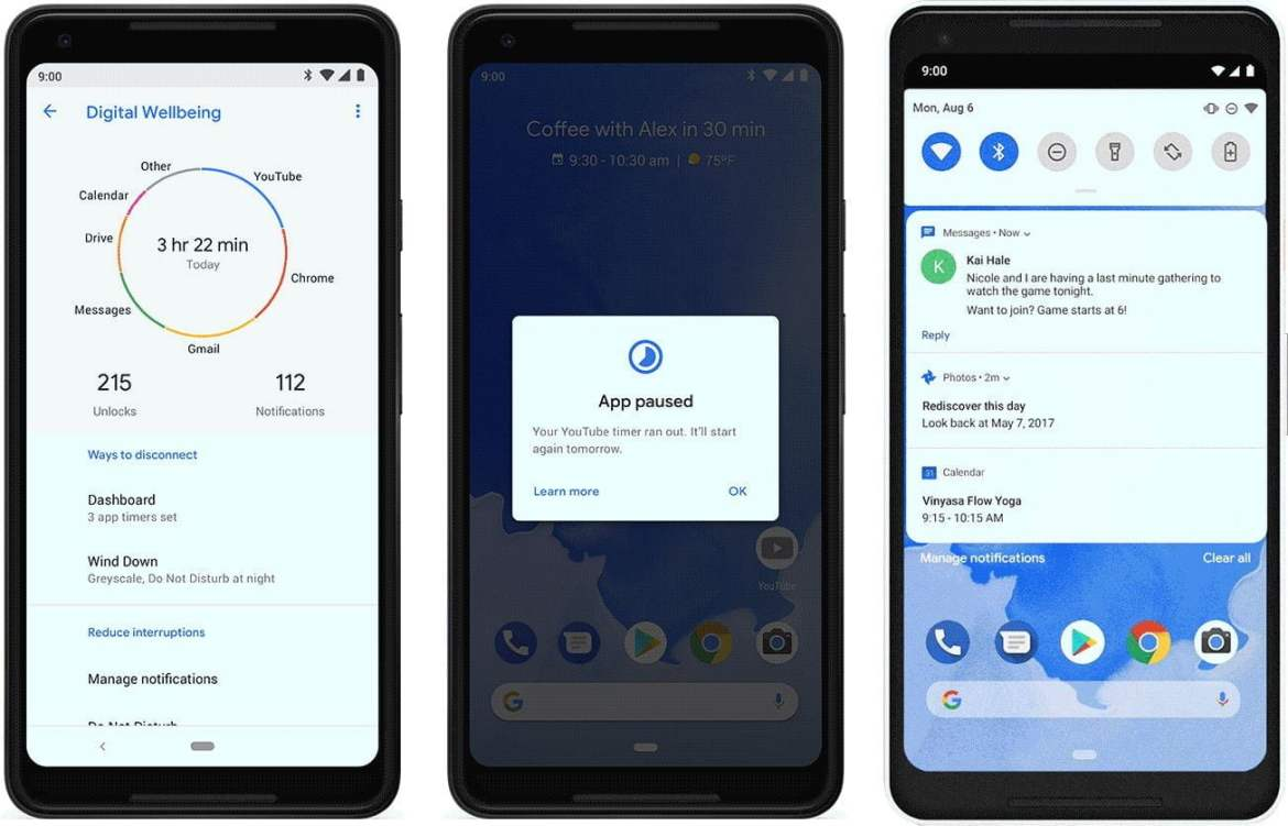 android 9 digital wellbeing