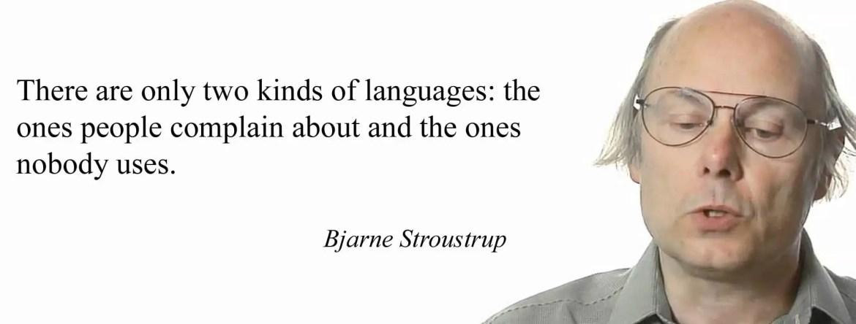 bjarne stroustrup programming quote