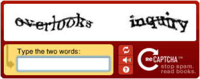 captcha random words test