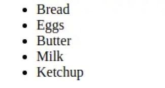 unordered list html