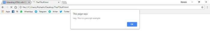 make alert in html