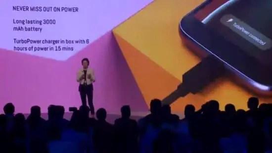 Moto G4 TurboPower charging