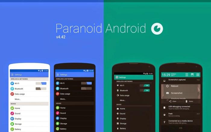 paranoid android custom roms