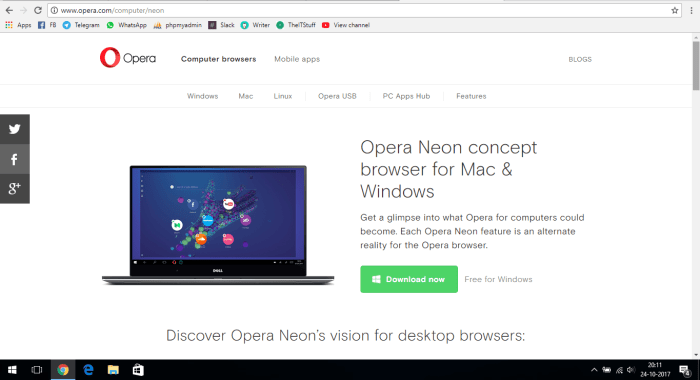 download opera neon web browser