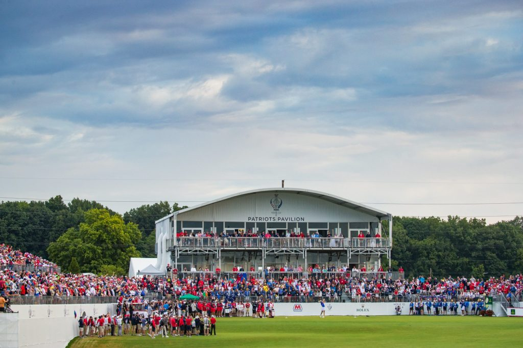 The Solheim Cup. (Photo courtesy of Solheim Cup on Twitter)