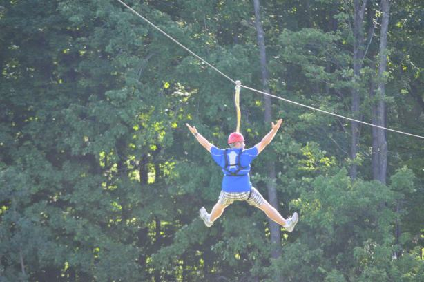 Zip Line Fun at Boyne Highlands Near Petoskey Photo by Michigan Municipal League