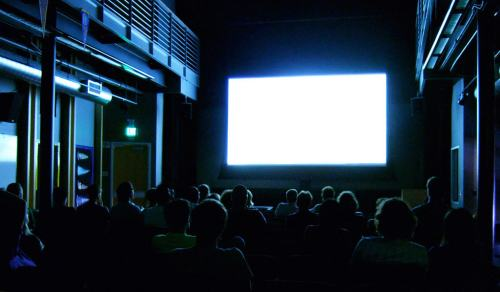 Watching a blank screen