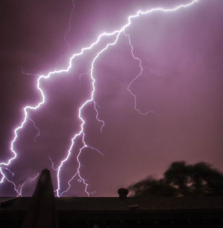 Dad throws lightning bolts. :)