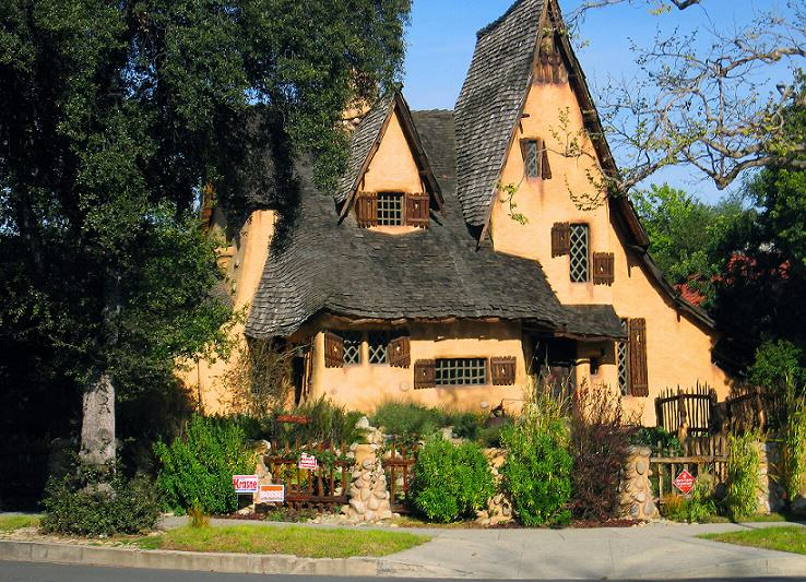 The Witch House  The Spadena House, also known as The Witch's House, is a storybook house in Beverly Hills, California. Located on the corner of Walden Drive and Carmelita Shot by Lori Branham