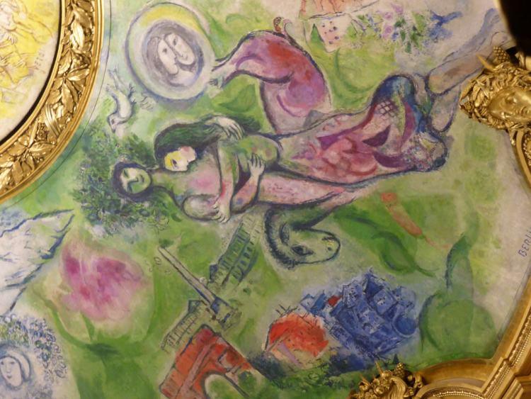 Chagall ceiling, Opera Garnier, Paris 2014