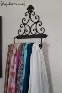 Easy & Cheap Scarf Holder  The Jaderstons