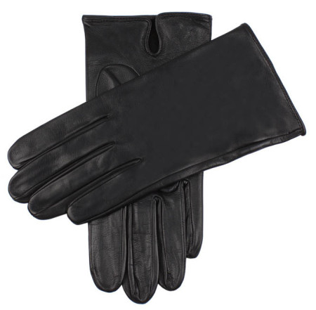 Dents SKYFALL black leather gloves