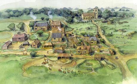 Kelmarsh medieval village