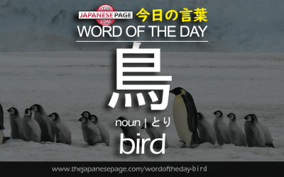 Beginner Word of the Day – 鳥 [bird]