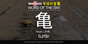 The Japanese Page Word of The Day - Turtle