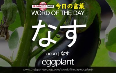 Beginner Word of the Day – なす [eggplant]