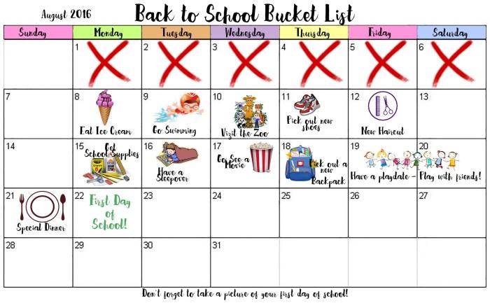 BucketList-Back To school