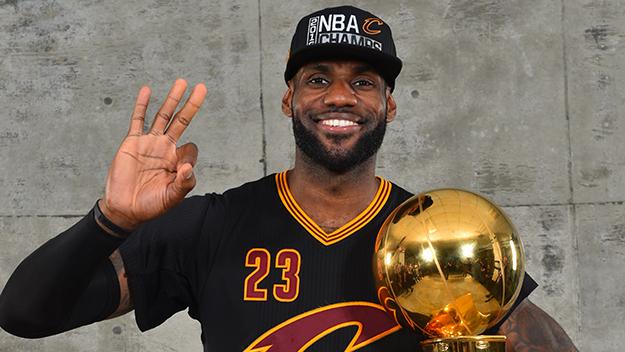 2016 NBA Finals – Post Game Trophy Shoot