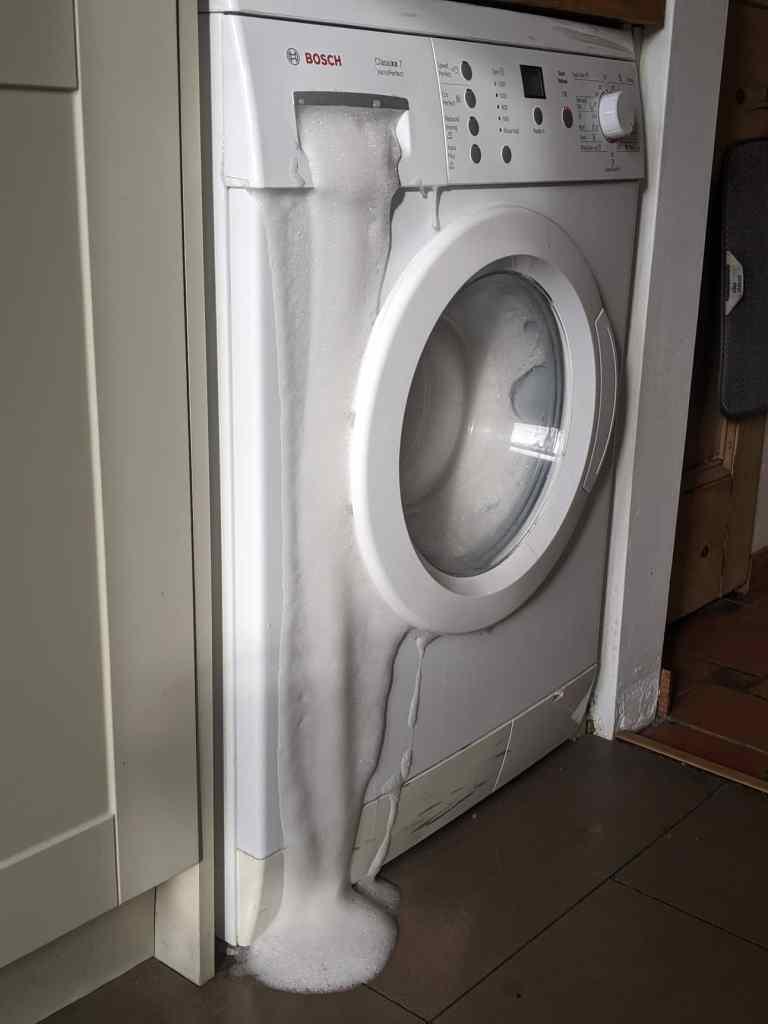 Washing machine foam explosion