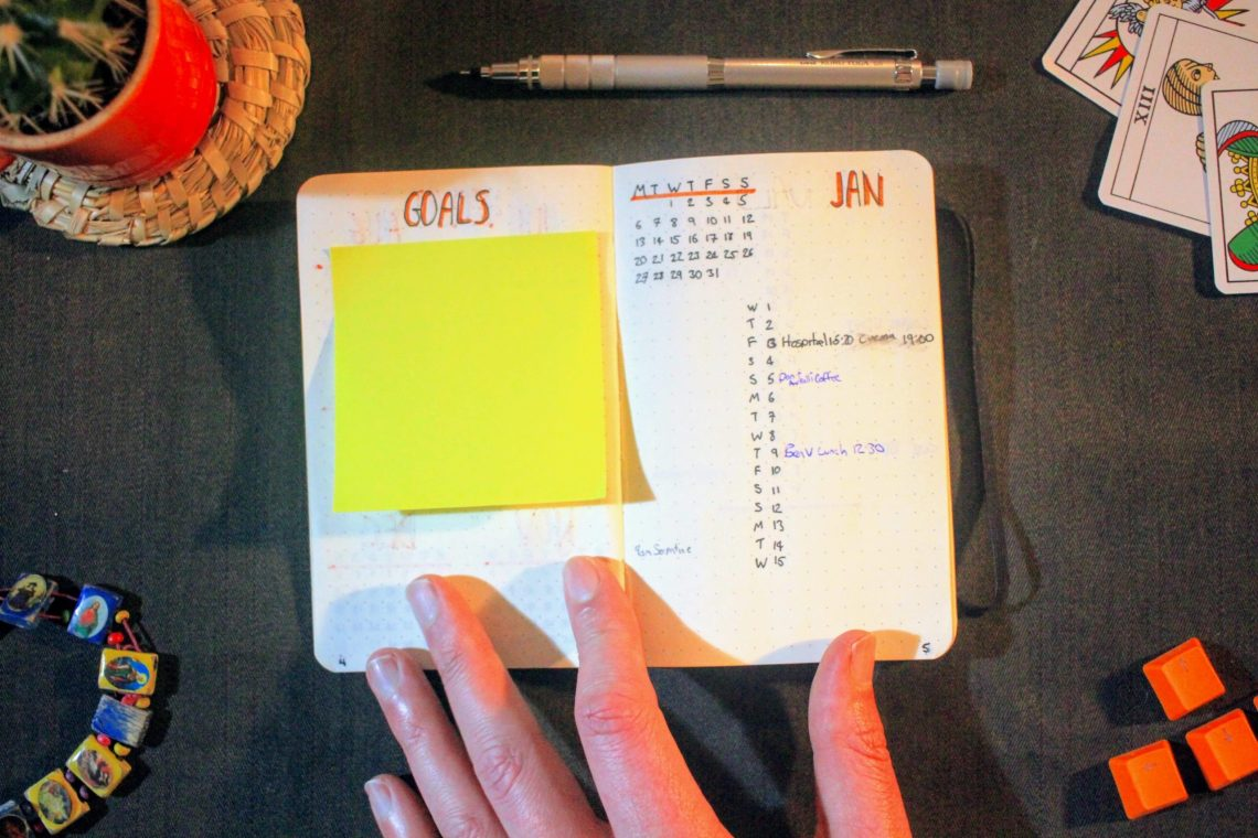 Bullet Journal Goals And Month Log