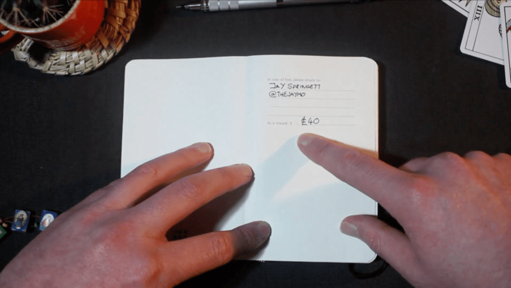 Bullet Journal Contact Details Page