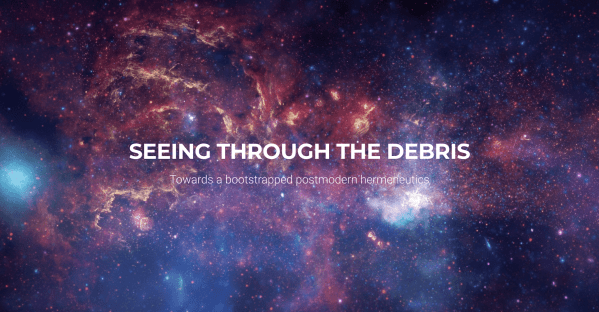 Seeing through the debris cover