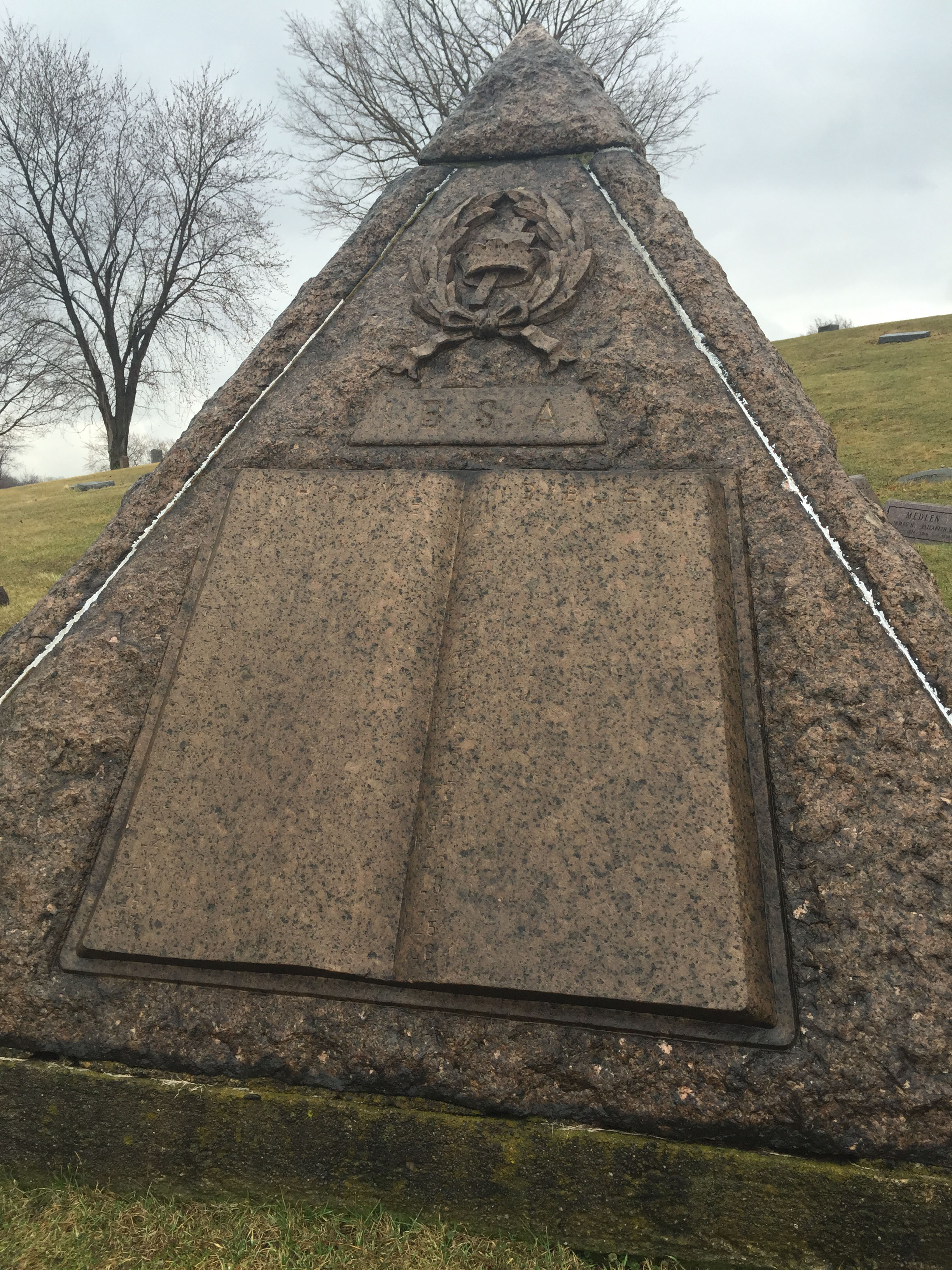 Charles Taze Russells Grave Site Pyramid  The Jehovahs Witness That Stole Christmas