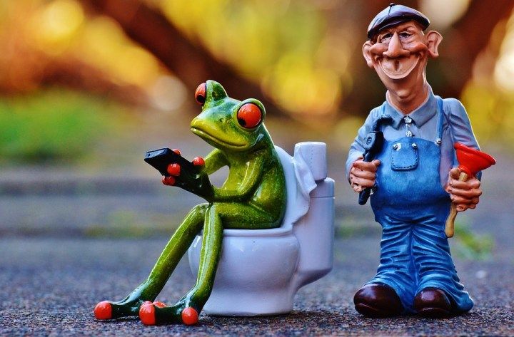 frog and plumber figures