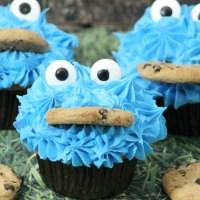 Sesame Street Cookie Monster Cupcakes