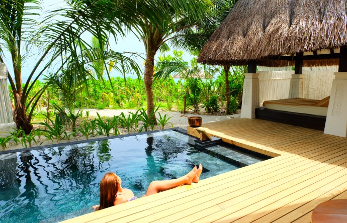 Beach Villa with private pool at Jumeirah Vittaveli Resort
