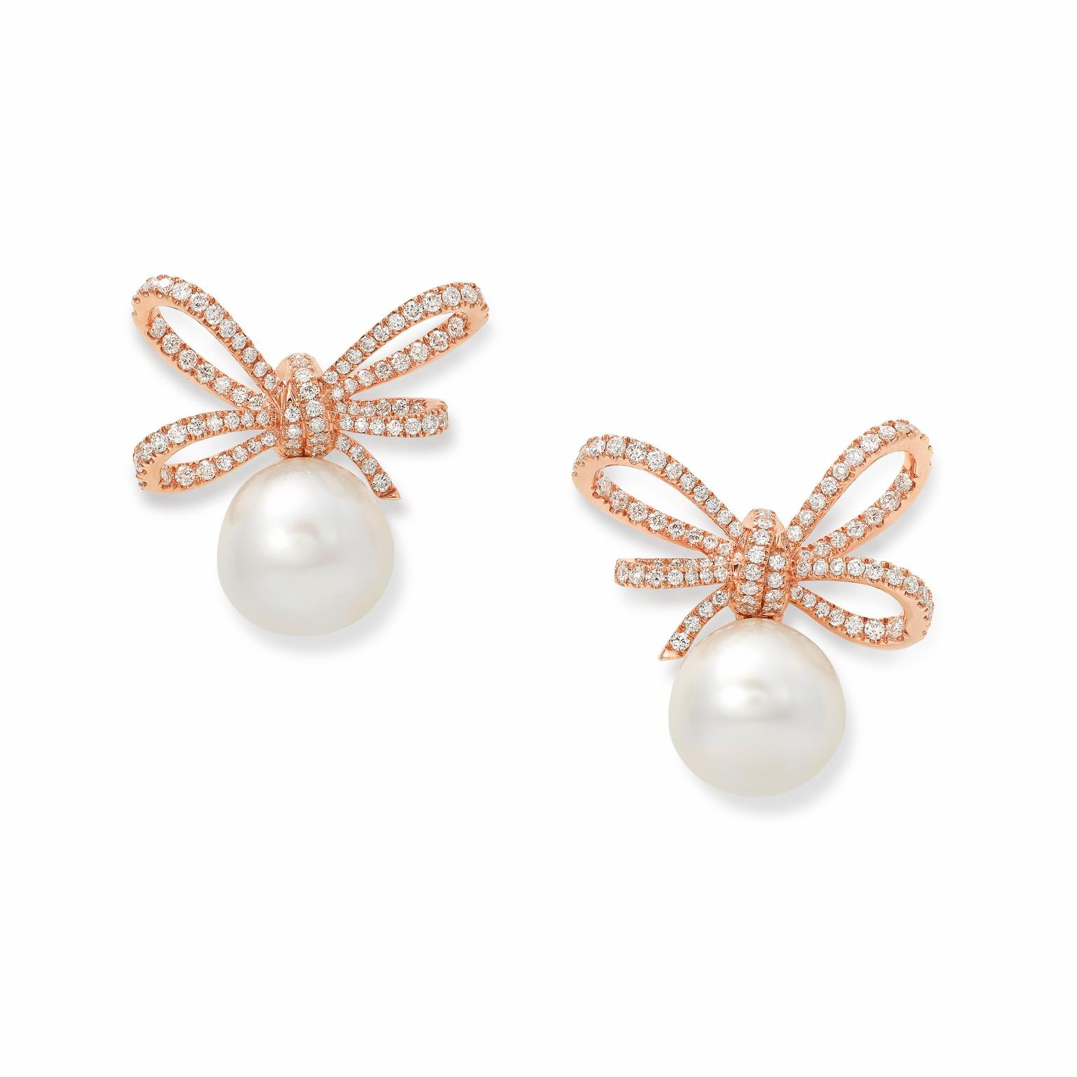 Bow Pearl Earrings Lyst Kate Spade New York All Wred Up