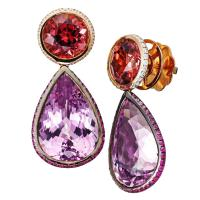 Candy earrings with spinel and kunzite | AENEA | The ...