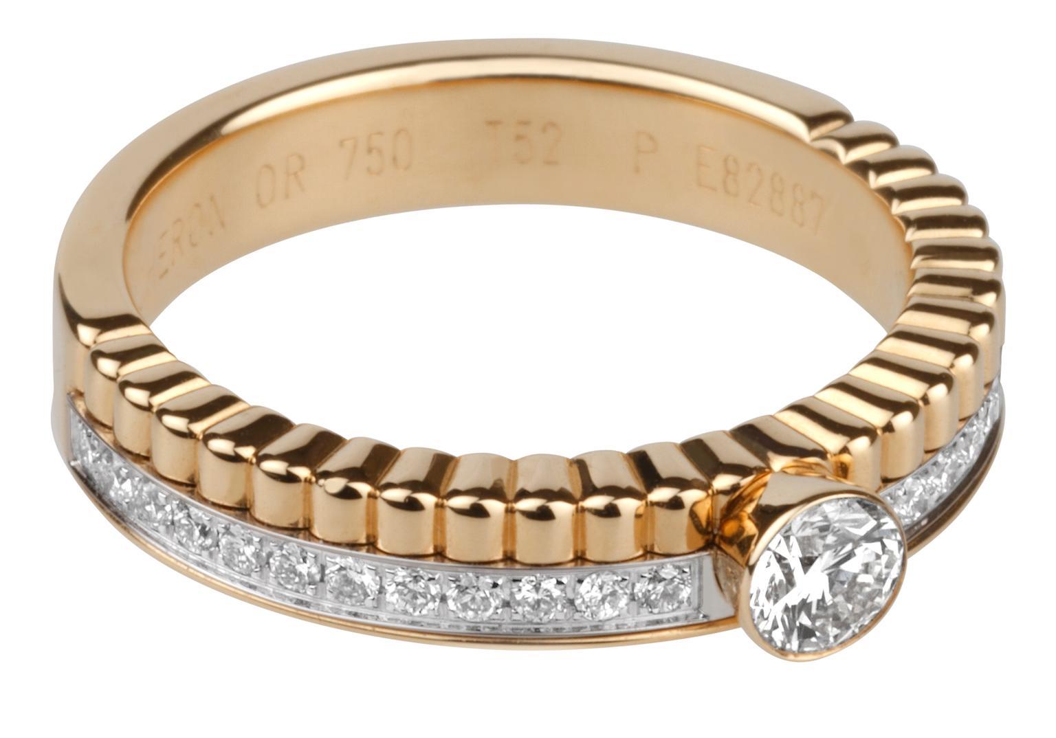 Quatre Follies Solitaire Diamond Ring Boucheron The