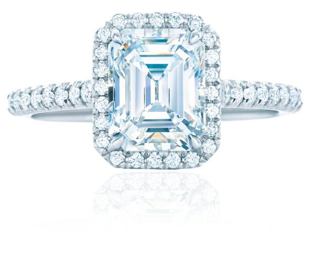Tiffany Soleste Ring Zoom Tiffany Soleste Emerald Cut Diamond Engagement Ring Featuring